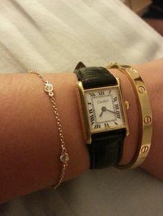 Yellow gold bracelets dbty love bracelet cartier tank