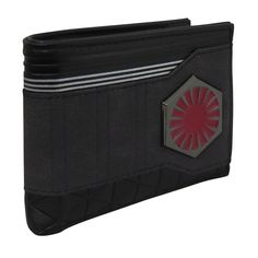 This First Order bi-fold wallet features a raised, metallic First Order emblem over gray swatches and diamond patterns reflecting Kylo Ren's padded armor. Star Wars Quotes, Star Wars Humor, Knights Of Ren, Triangular Pattern, Star Wars Facts, Star Wars Merchandise, Star Wars Tattoo, Star Wars Wallpaper