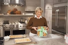 Mailing holiday greetings to a loved one?  Martha has the perfect homemade gift for you.