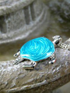 Sea Turtle Necklace Turtle Pendant Necklace by ContradictionsJC, $12.00