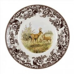 Spode Woodland Dinner Plate 10.5 inch (Mule Deer) -Spode USA