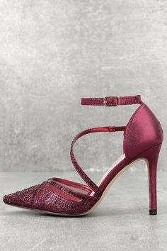 a4d9486a71ae J Reneé Women s Soncino Rhinestone Criss Cross Ankle Strap Pumps ...