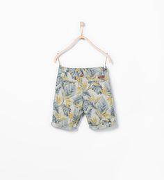 ZARA的图片 3 名称 花朵百慕達短褲