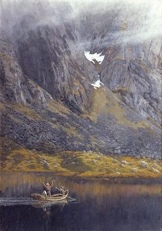Ekko, 1888 by Theodor Severin Kittelsen (Norwegian: 1857-1914)
