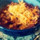 """Skillet Chili   """"This makes a very thick chili. For a thinner chili, omit the tomato paste. For a chili soup, omit tomato paste and sauce and use 1 can (16 ounces) tomatoes with liquid and add 1/2 cup water and 1 beef bouillon cube."""""""