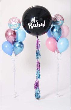 Confetti Balloon Gender Reveal, Confetti Balloons, Gender Party, Baby Gender Reveal Party, Baby Balloon, Baby Shower Balloons, Party Decoration, Balloon Decorations, Baby Shower Photography