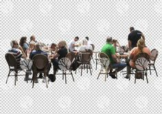 People in restaurant cutout 21.7.2016 by Gobotree