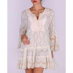 blank Ibiza Style, Ibiza Fashion, Dresses With Sleeves, Long Sleeve, White Gowns, Headscarves, Sleeve Dresses, Long Dress Patterns, Gowns With Sleeves