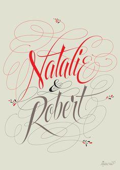 Natalie & Robert by Martina Flor, via Behance