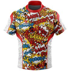 Comic Rugby Tour Shirts from Scorpion Sports in any pattern or colour, UK manufactured within 2 weeks