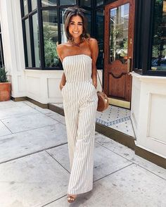 30 Cool and Cute Summer Outfits for Women's Trendy Outfit Idea Off Shoulder Jumpsuit And Bag Cute Summer Outfits, Spring Outfits, Trendy Outfits, Cute Outfits, Cute Summer Clothes, Summer Cruise Outfits, Comfortable Summer Outfits, Cruise Attire, Denim Outfits