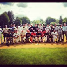 Team photo at the 2012 Hall of Fame Classic in Cooperstown, NY on June 16, 2012.