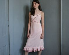 Pink for grown-ups: Pink Dreams RUBY CHIC 50s Slip Dress Upcycled Altered Couture
