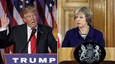 تعهد ترزا می و ترامپ برای گسترش ارتباطات میان انگلیس و آمریکا