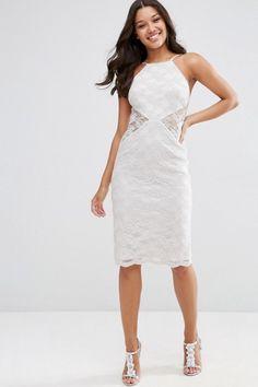 Descripción: vestido entallado tela encaje con forro escote halter tirantes ajustables aplicaciones de encaje semitransparente cierre espalda color gris hielotalla disponible:talla 42 , Precio: $ 50.000