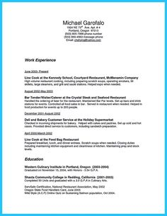 Resume Examples Tamu - Resume examples for kitchen hand