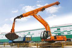 Hitachi presenteert zijn nieuwe graafmachine op de Bauma 2016 Armored Truck, Air Fighter, Airplane Mode, Engin, Heavy Machinery, Construction, Oil And Gas, Heavy Equipment, Utility Pole