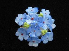 Vintage English Bone China Blue Flower Brooch by mimisvintageshop, $9.00