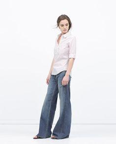 Image 1 of STRETCH POPLIN SHIRT from Zara