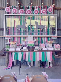 Awesome horse party! See more party ideas at CatchMyParty.com!  #partyideas #horse