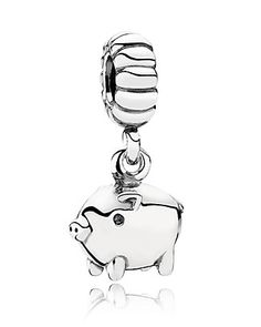 PANDORA Charm - Sterling Silver Piggy given to me from Jason Mother's Day 2014