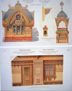 Viktor A. Hartmann et Ivan N. Ropet, Motifs d'architecture russe, 1880