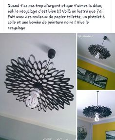 Made 2 of these from toliet paper rolls, added gems to give it some color. still hanging on wall a year - Salvabrani Toilet Paper Roll Art, Toilet Paper Roll Crafts, Home Crafts, Diy And Crafts, Do It Yourself Decoration, Wall Decor Crafts, Lampe Decoration, Decoration Originale, Creation Deco