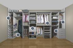 Resultado de imagen de wardrobe storage solutions for small bedrooms Wardrobe Organisation, Wardrobe Storage, Bedroom Storage, Organization, Sliding Wardrobe, Wardrobe Doors, Built In Wardrobe, Open Wardrobe, Minimal Wardrobe