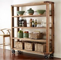 Recycled Pine Wood Bookcase Shelves & Bookcases by Pine Bookcase, Bookcase Shelves, Pallet Shelves, Wood Shelves, Pipe Shelving, Rustic Bookshelf, Wall Shelving, Storage Shelving, Storage Units