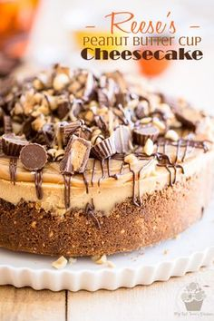 Vegetarian · Serves 12 · For my birthday this year I created the absolute most decadent Reese's Peanut Butter Cup Cheesecake ever and topped it with a luscious peanut butter caramel Peanut Butter Cups, Reese's Peanut Butter Cheesecake, Cheesecake Bars, Peanut Butter Desserts, Reese Peanut Butter Cake, Banana Pudding Cheesecake, Chocolate Cheesecake Recipes, Caramel Cheesecake, Delicious Desserts