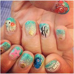 20 Disney nail art designs that are incredibly beautiful - Best Nails For Women Disney Nail Designs, Cute Nail Designs, Beautiful Nail Designs, Beautiful Beautiful, Fancy Nails, Love Nails, Trendy Nails, Pedicure, Nails After Acrylics
