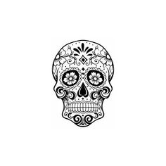 Handcrafted by the Rose City Crafter | ArtFire.com ❤ liked on Polyvore featuring home, home decor, skulls, handmade home decor, handcrafted home decor, rose home decor, skull home accessories and skull home decor
