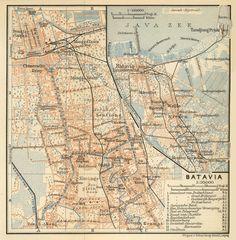 """Batavia 1914  From """"Indien: Handbuch Für Reisende"""" published by Verlag von Karl Baedeker, Leipzig, 1914."""
