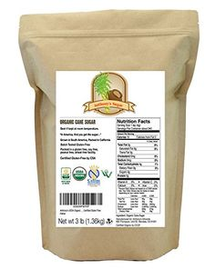 Organic Cane Sugar 3 Pounds by Anthonys Certified GlutenFree  NonGMO * Click image to review more details.