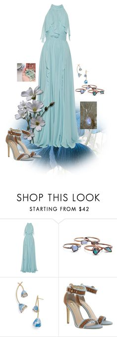 """Crystal Healer"" by bronwyn-black ❤ liked on Polyvore featuring Elie Saab, Child Of Wild, Tory Burch and GUESS"