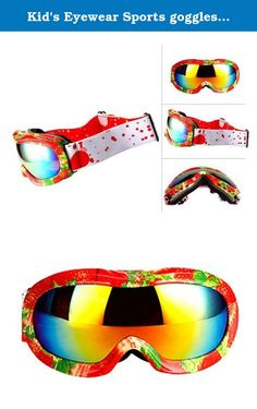 Kid's Eyewear Sports goggles eyeglasses Anti-flog Outdoor Adjustable Strap for Skiing. Condition: 100% Brand New and High Quality Frame Material:TPU/PC Gender: Unisex HD Impact-resistant maximizes contrase Blocks 100% of harmful UV light and eliminates glare Eyewear Type: Sport Sunglasses for Skiing Snowboarding Cycling Product Dimensions: Lens Height:74.5mm Length Width:81.3mm NoseBridge Width:14mm Whole Length:138.4mm Package Included: 1* glasses case 1* glasses cloth 1* pair of Sport...