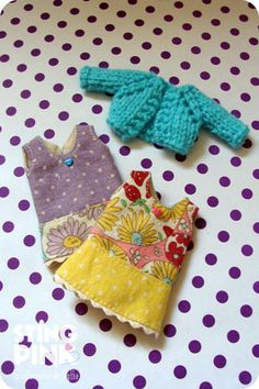 Two dresses and a cardigan for Odeco Chan & Nikki Cat by StingPink, $20.00