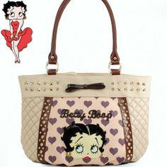This item sell at  HandbagLoverUSA.com $38.99 Betty Boop Quilted Rhinestone Shoulder Bag Fashion Handbag Purse
