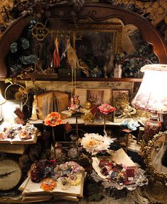 """Grimoire"" vintage boutique in Tokyo The name Grimoire means 'book of spells.' And as the name suggests, stepping into this vintage shop is like entering into a world of fairytales. Grimoire is at the forefront of the ""Dolly"" fashion movement, a distinctive style combines the richness of European vintage wardrobes, a bit of darkness found in fairytales and antique religious artifacts. The garments and other items are collected from various places in Europe and the United States."