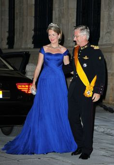 Duke and Duchess of Brabant  at gala dinner at the Grand-Ducal palace in Luxembourg