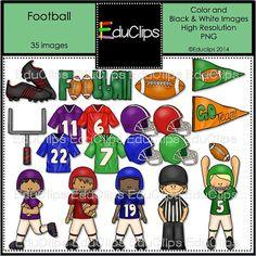 Football Clip Art Bundle by EduClips on Etsy, $4.95