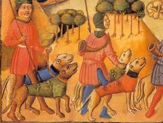 medieval cutvest on dog Looks a lot like modern hog dog vests. Medieval Life, Medieval Art, Hog Dog, Dog Collars & Leashes, Animal Posters, Medieval Clothing, Dark Ages, Hunting Dogs, Art Studies