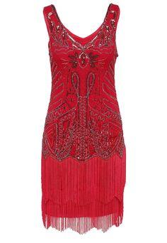 1920s Style Dresses BABEYOND Womens Flapper Dresses 1920s V Neck Beaded Fringed Great Gatsby Dress $28.99 AT vintagedancer.com
