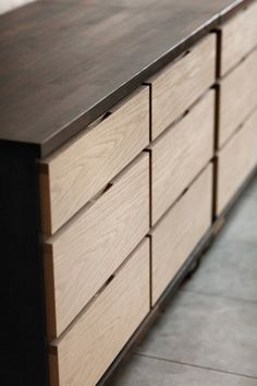 "thedesignwalker: ""concealed hand slots on drawers """
