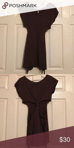 RVCA knot back dress RVCA fringe knot back cut out dress. Size Small. Grey. RVCA Dresses Mini