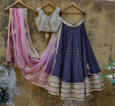 Lehnga Dress, Lehenga Blouse, Lehenga Choli, Sari, Brocade Lehenga, Lehenga Style, Indian Lehenga, Royal Blue Lehenga, Pink Lehenga