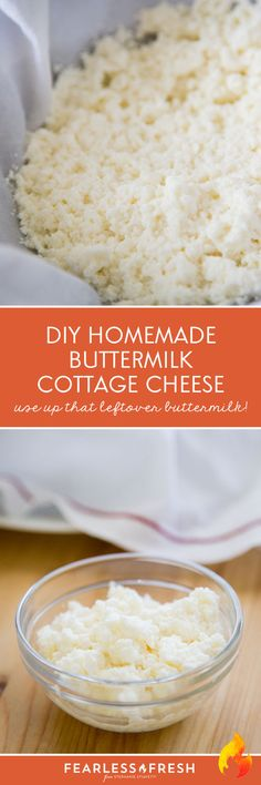 Cottage cheese, Cottage cheese recipes and Homemade buttermilk on ...