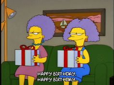 the simpsons season 4 birthday episode 21 happy birthday selma bouvier patty bouvier 4x21 birthday present trending #GIF on #Giphy via #IFTTT http://gph.is/2aRsiJK