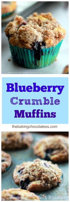 Best Blueberry Crumble Muffins via @https://www.pinterest.com/BaknChocolaTess/