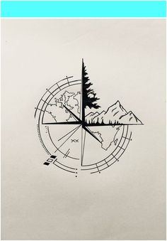 Engraving aur of the world - Tattoo Style New Tattoos, Small Tattoos, Tattoos For Guys, Tattoos For Women, Tatoos, Compass Tattoo Design, Nautical Compass Tattoo, Compass Drawing, Geometric Tattoo Design